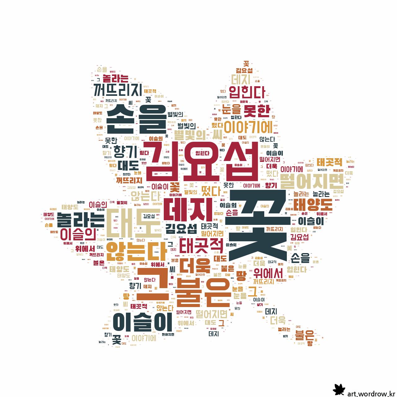 워드 클라우드: 꽃 [김요섭]-36
